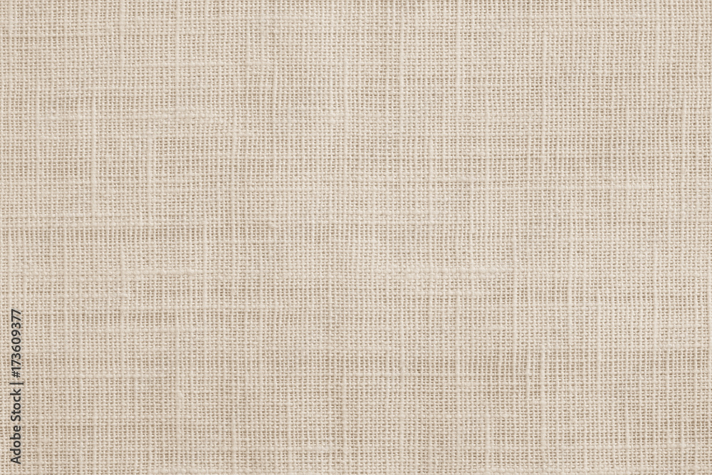 Fototapety, obrazy: Jute hessian sackcloth canvas woven texture pattern background in light beige cream brown color