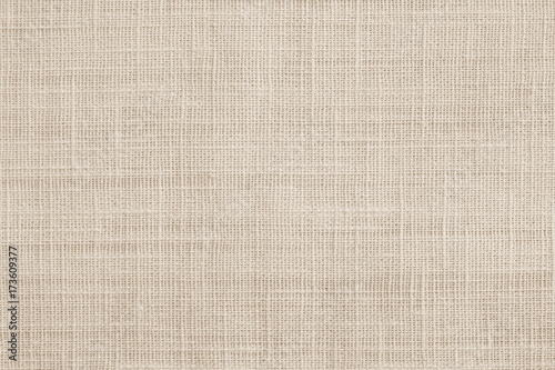 Jute hessian sackcloth canvas woven texture pattern background in light beige cr Canvas Print