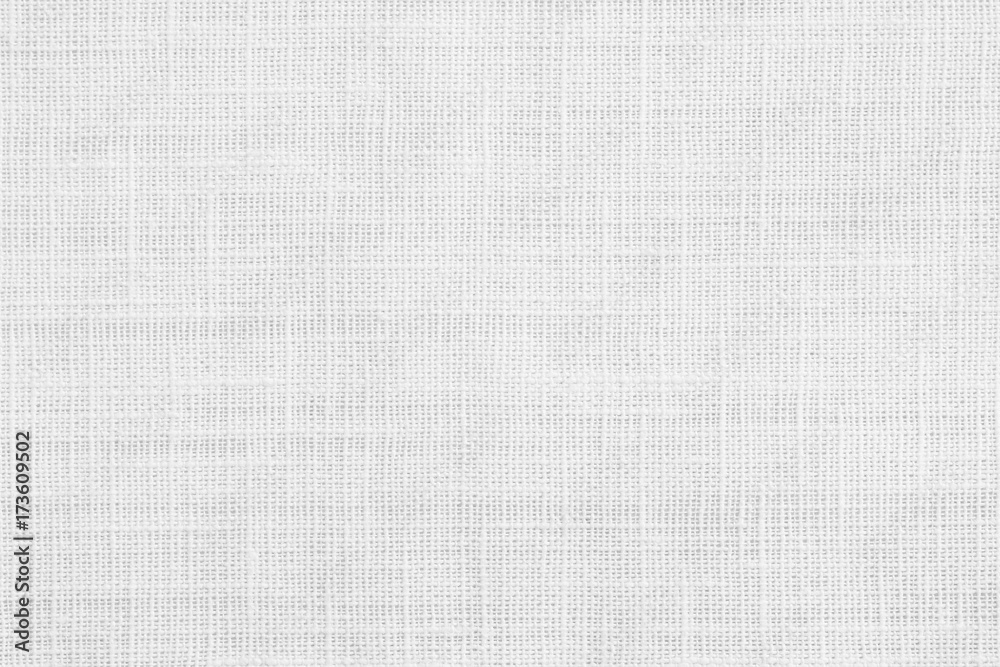 Fototapety, obrazy: White jute hessian sackcloth canvas sack cloth woven texture pattern background in white light grey color