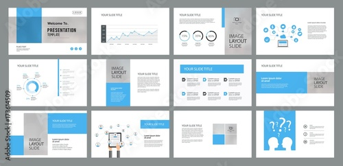 abstract business presentation template design and page layout