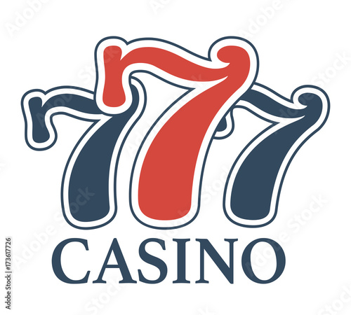 Tela  Luxury casino 777 isolated minimalistic promotional cartoon emblem