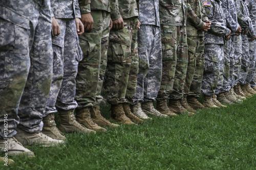 Fotografie, Obraz  Legs of standing soldiers