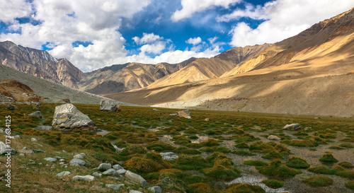 Tuinposter Purper Landscape view, Mountains , Leh Ladakh, India