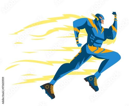 Fotografia, Obraz superfast superhero
