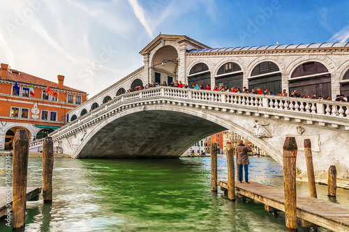Poster Venice Rialto bridge in Venice, Italy