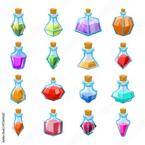 Photo Alchemy witch magic beverage elixir potion poison antidote glass bottle icons se