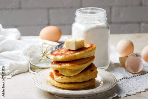 Homemade Pancake Mix in the jar.style rustic