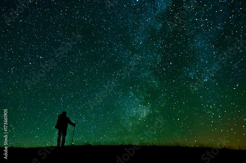 Fototapeta Yıldızları İzleyen Dağcı