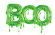 Leinwanddruck Bild - Boo word made from green dripping slime halloween letters