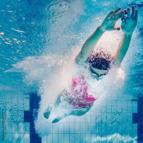 Swimming start Canvas Print