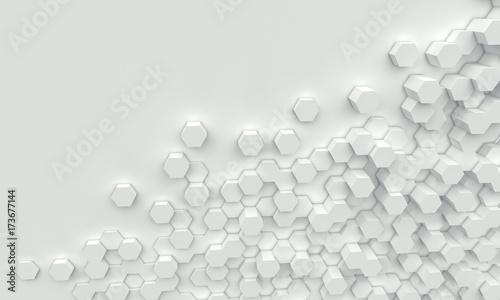 Fototapety, obrazy: hexagon geometric background