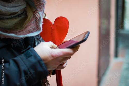 Fotografie, Obraz  un cuore è amore