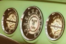 Dashboard Meters Of A Vintage ...