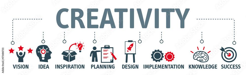 Fototapety, obrazy: Banner creativity concept vector illustration