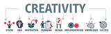 Banner creativity concept vector illustration