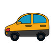 yellow car sideview icon image vector illustration design