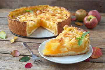 Fototapeta Apfel-Wein Kuchen