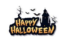 Happy Halloween Text Design Ba...