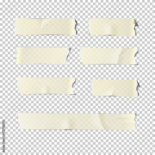 Fotomural Adhesive tape set isolated on transparent background