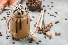 Chocolate Frappe Coffee With M...