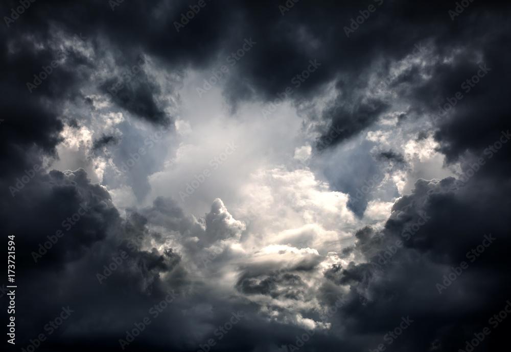 Fototapeta Dramatic Clouds Background