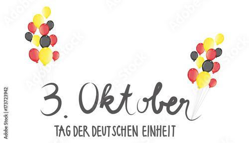 Fotografie, Obraz  Nationalfeiertag, Tag der deutschen Einheit - Luftballons in den Farben der Flag
