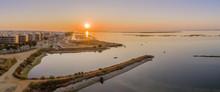Sunrise Aerial Seascape View O...