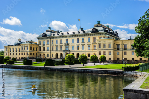External view of Drottningholm Palace in Stockholm, Sweden Canvas Print