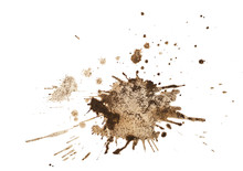 Coffee Stain Isolated On White...