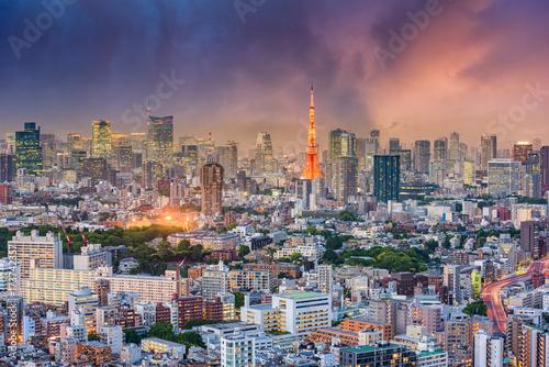 Plakat Tokio Japonia Cityscape