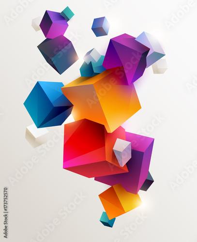 abstrakcjonistyczny-kolorowy-tlo-z-geometrycznymi