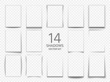 Rectangular Shadow Box Frames From Paper Sheets. 3d Transparent Shadows Effect