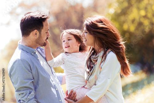 Zdjęcie XXL Szczęśliwa radosna młoda rodzina