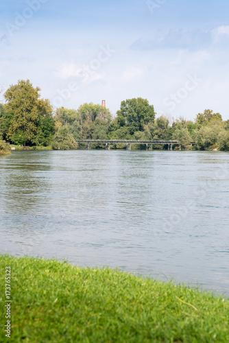 River Adda, Lombardy, Italy Canvas Print