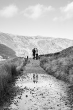 Young Couple Walking On A Moun...