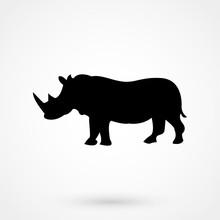 Rhino Icon. Safari Animal