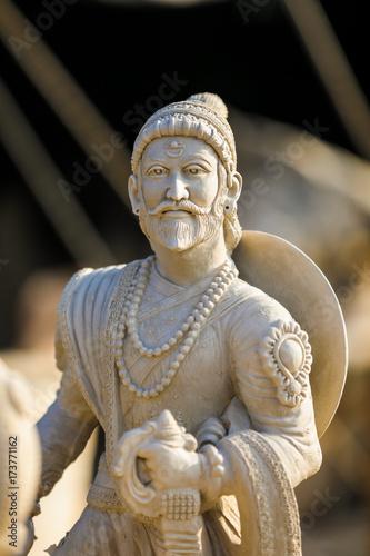 Staande foto Xian Indian King Shivaji Maharaj sculpture