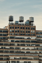 Water Tanks On A Rooftop Of A ...