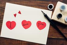 "I Love You"" Message Hand Writt..."
