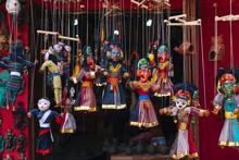 Puppets Of Hindu God/goddesses On Sale At Curio Shops.