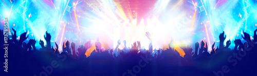 Obraz na płótnie Wiwatujący tłum na koncercie