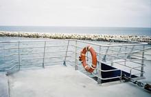Life Buoy On A Ferry