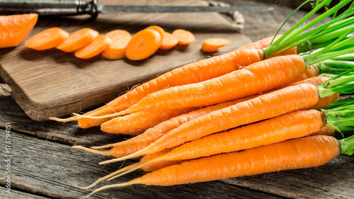 Photo  Fresh and sweet carrot