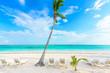 Relaxing on sun lounger at Akumal Beach - Riviera Maya - paradise beaches at Cancun, Quintana Roo, Mexico - Caribbean coast - tropical destination for vacation