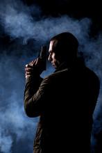 Detective Or Criminal With Gun...