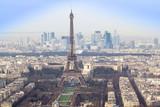 Fototapeta Paryż - Eiffel Tower and Paris cityscape