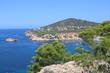 Bella vista delle spiagge di Ibiza. Spagna
