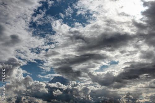 Fotografie, Obraz  Beau ciel avec nuages
