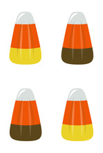 Candy Corn Vertical Vector Illustration On White Background 1