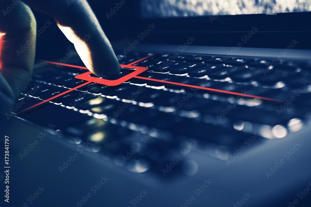 Fototapeta Keylogger Computer Spy